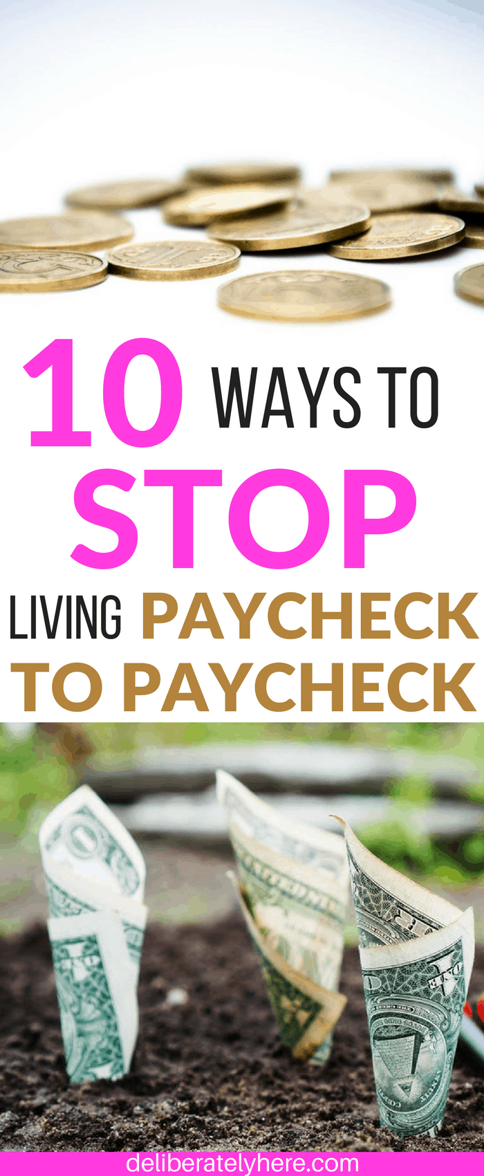 How to Stop Living Paycheck to Paycheck & Gain Financial Freedom Today. Free Budget Guide Printable