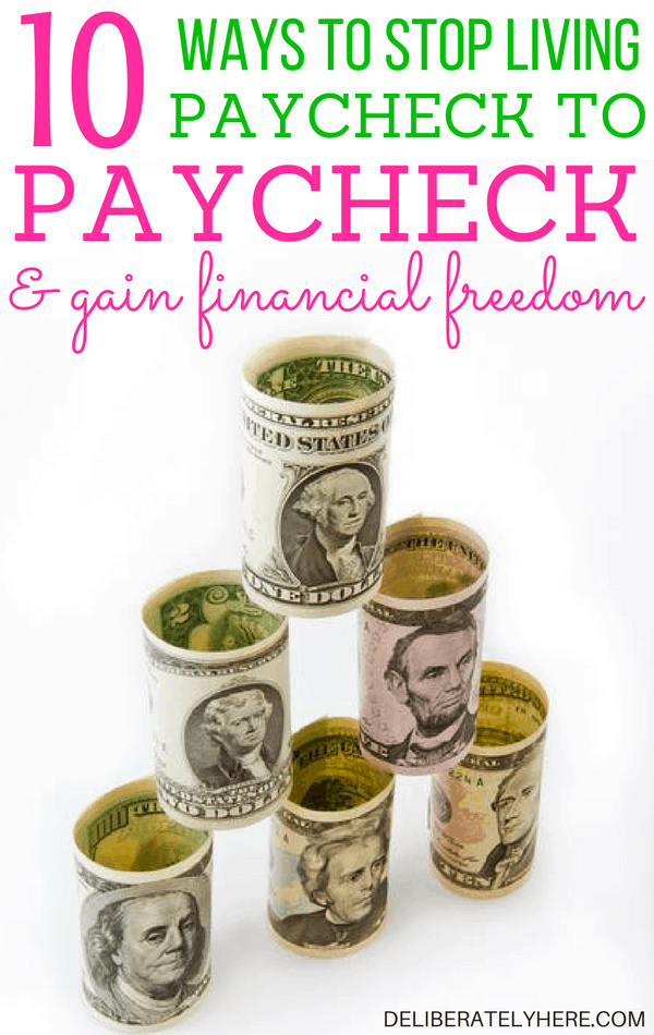 How to Stop Living Paycheck to Paycheck & Gain Financial Freedom Today + Free Budget Printable #freebie