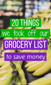 20 Things We Took Off Our Grocery List To Save Money...And Why You Should Too