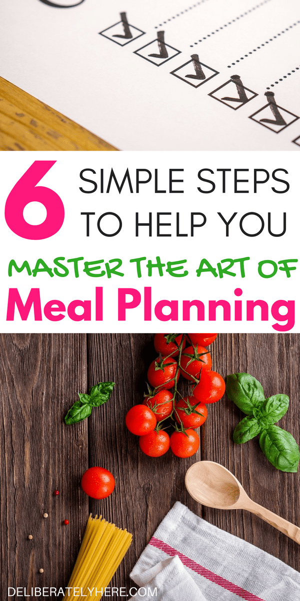 6 Simple Steps to Help You Master the Art Of Meal Planning and Become Great at it in No Time. Helping You Save Time & Save Money