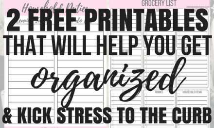 Free Printable Time Management, Grocery List & To-Do List