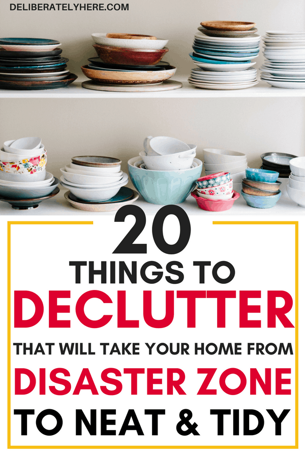 declutter your home in 20 easy steps | 20 things to declutter from your home today