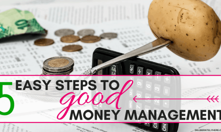 5 Easy Steps to Good Money Management