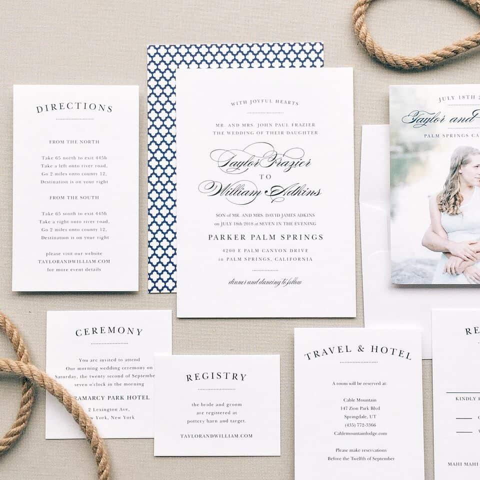 Basic Invite Wedding Invitation