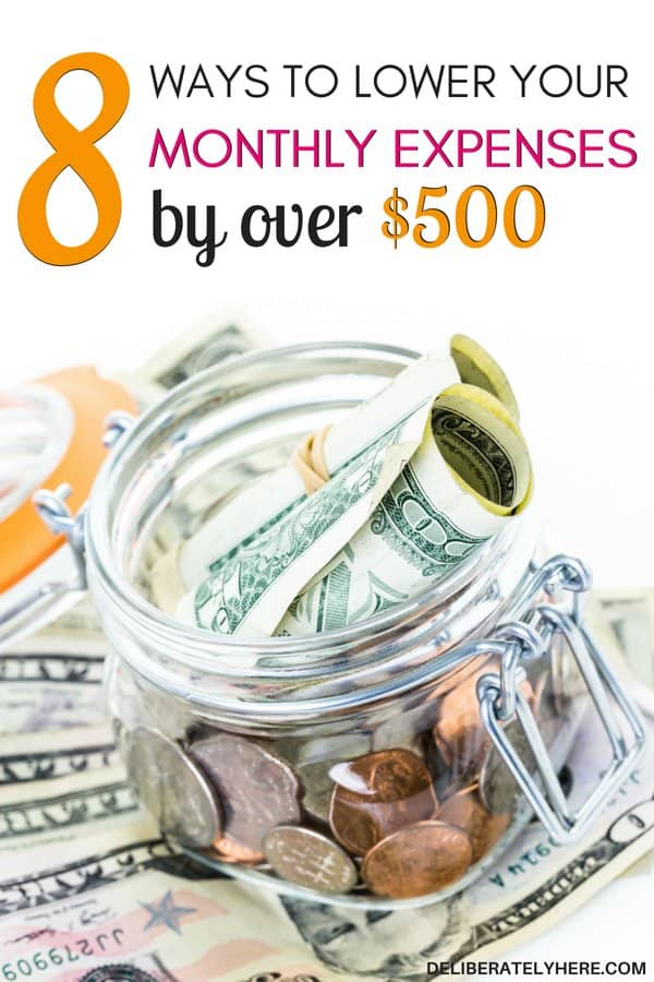 Ways to lower your monthly expenses by over $500 a month! Cut costs this month with these handy tricks. Easily lower your monthly expenses and save money every month by doing these 8 things. I'm SO happy I found this article!! It provides such helpful insights on unique and smart ways to cut costs and save money every month - things I've never even thought about! If you want to save big money this month you NEED this article!!