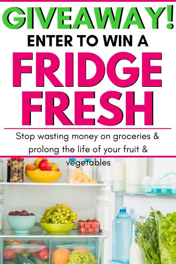 Enter to win a fridge fresh! Giveaway, free fridge fresh! Stop wasting money on groceries and make your food last longer. Prolong the life of your produce, vegetables and fruits. Stop wasting money on groceries and start saving money every month with your Fridge Fresh!
