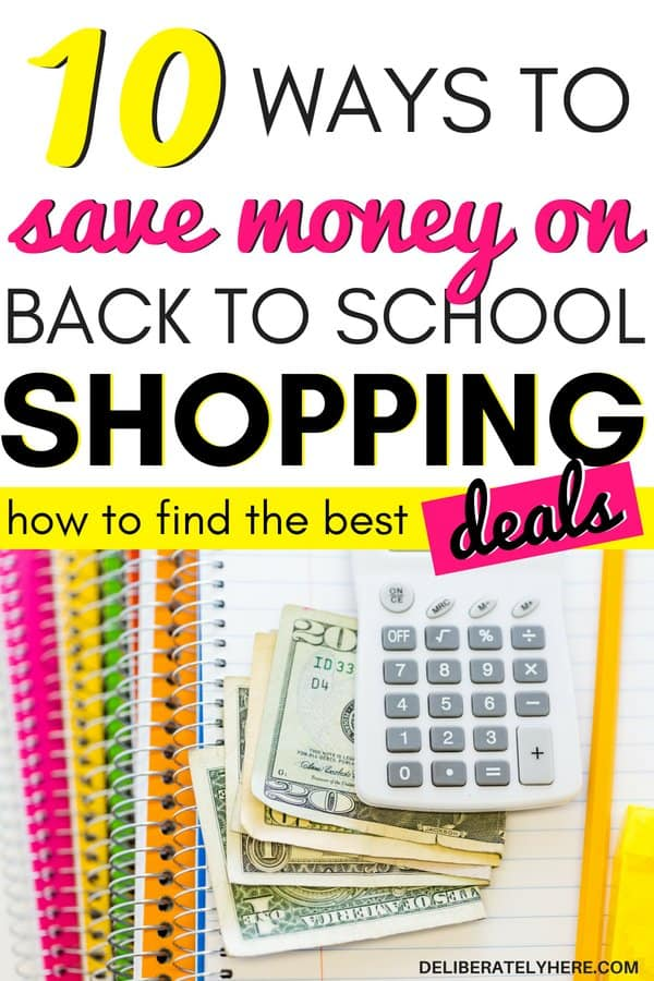 How to save money on back to school shopping. Back to school organization to save money this fall. Back to school ideas to help you save money with frugal living and smart personal finance tips. Use these frugal living tips to help you save money and shop smart. Save money fast with these simple back to school tips to help you stay in your budget this season.