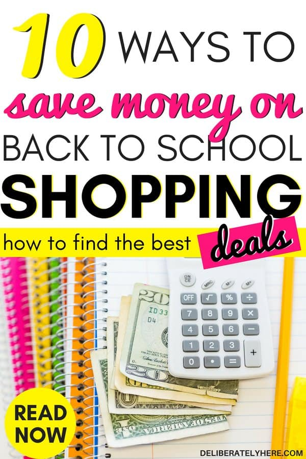 How to save money on back to school shopping. Back to school organization to save money this fall. Back to school ideas to help you save money with frugal living ideas and smart personal finance tips. Use these frugal living tips to help you save money and shop smart. Save money fast with these simple back to school tips to help you stay in your budget this season.