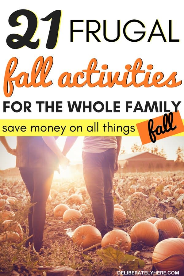 21 frugal fall activities for families. Cheap fall activities to do with the whole family. Save money on all things fall with these cheap or free frugal fall activities. Get outdoors and active this fall with these frugal things to do this fall. Fall activities for couples to enjoy the crisp autumn air.