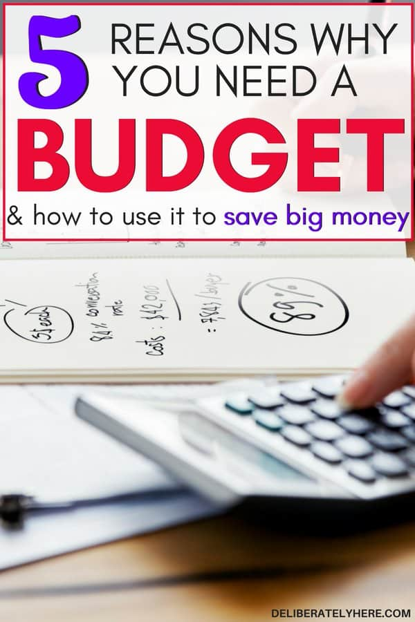5 reasons why you need a budget and how to use it to save big money. Budgeting for beginners. Start budgeting today to organize your finances. Start financial planning with these easy budgeting tips. Use these saving money tips to start saving money fast with personal finance tips to help you live comfortably even on a low income.