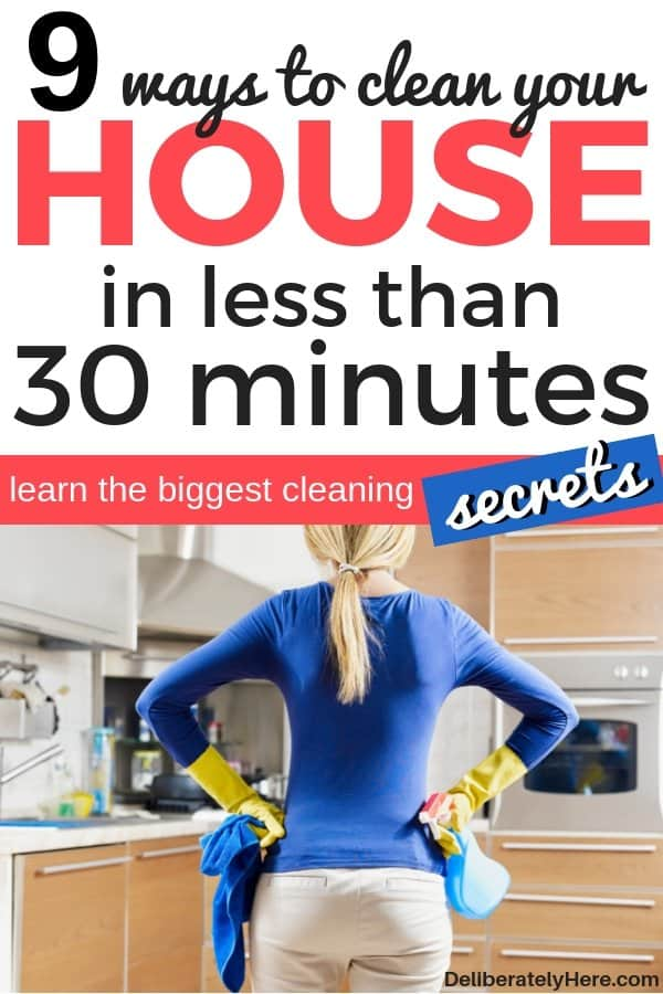 how to clean your house fast. 9 ways to clean your house in less than 30 minutes a day. Use these 9 easy cleaning tips for the home to achieve a clean and organized home. Cleaning tips for lazy people. Everyday cleaning tips for busy moms. Home cleaning hacks to try to create a clean home. Home cleaning tips to get a spotless house now. Home cleaning schedule to help you keep your house spotless - easy daily cleaning schedule.