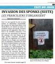 Invasion des sponks. LesFranciliens s'organisent
