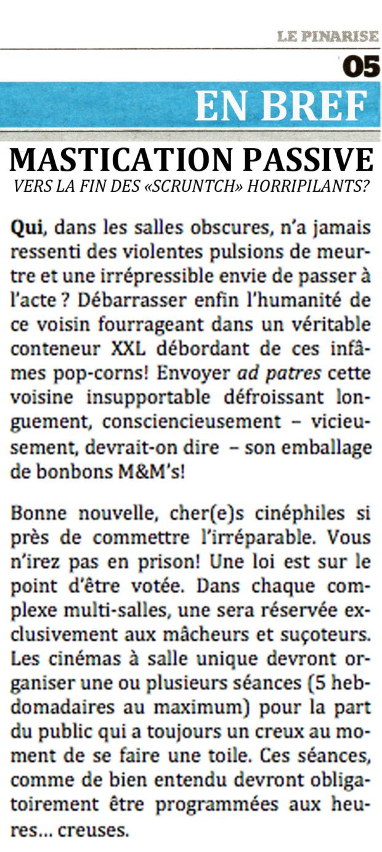 """Mastication passive - La fin des """"scruntch"""" horripilants"""