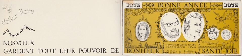 Carte de vœux 1972