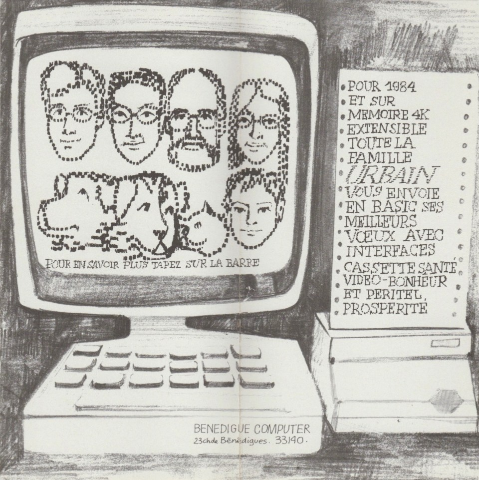 1984. Les Z'Urbains vous souhaitent une bonne année ©famille Urbain