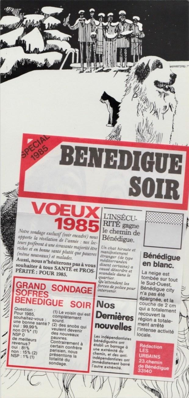 Les vœux des Z´Urbains - Bonne année 1985
