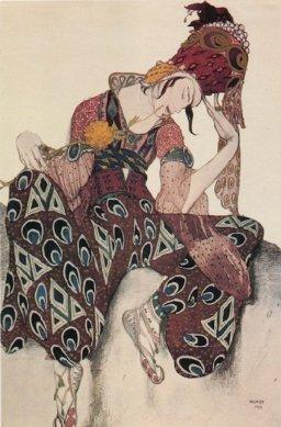 Nijinsky dans La Péri de Paul Dukas, en 1911, vu par Bakst