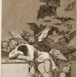 """Francisco De Goya y Lucientes, Le sommeil de la raison engendre les monstres, série """"Caprichos"""" nº43"""