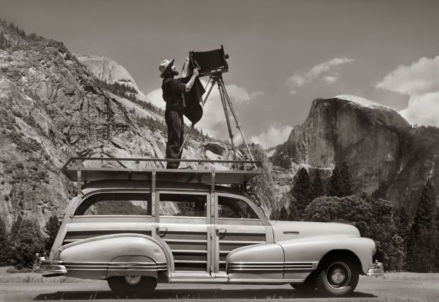 Ansel Adams dans le Yosemite Park