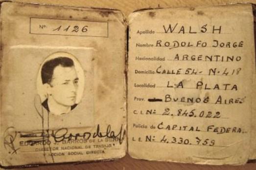 Carnet nacional de periodista profesional de Rodolfo Walsh