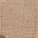 Lettre de Roque Dalton à Miriam Lezcano depuis Moscou, le 25 avril 1973 © Archives de la famille Dalton