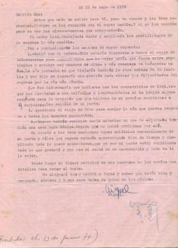 Lettre de Roque Dalton à Aída Cañas datée du 22 mai 1974 © Archives de la famille Dalton