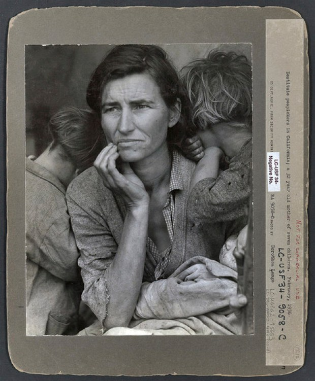 Mère migrante, photo Dorothea Lange, 1936