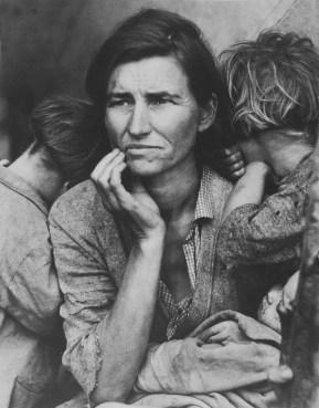 Mère migrante (photo non retouchée) par Dorothea Lange