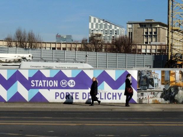 Les travaux de la ligne 14 du métro parisien - Photo ©Gilles Walusinski