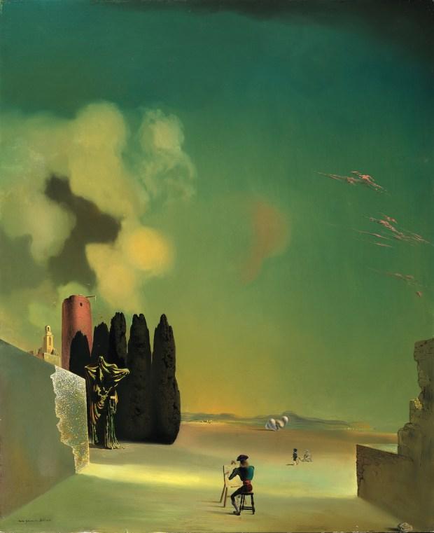 Salvador Dalí, Eléments énigmatiques dans un paysage, 1934