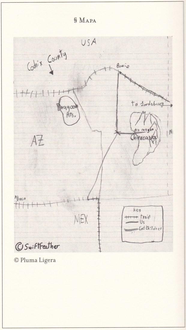 ©Valeria Luiselli. Archives des enfants perdus. La carte dessinée par le fils.