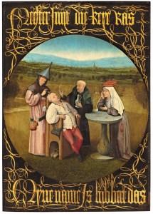 Jérôme Bosch, La Cure de folie (ou Extraction de la pierre de la folie), 1501-1505, Musée du Prado, Madrid