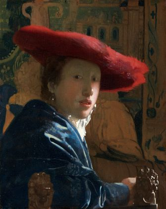 La fille au chapeau rouge, Johannes Vermeer. National Gallery of Art, Washington