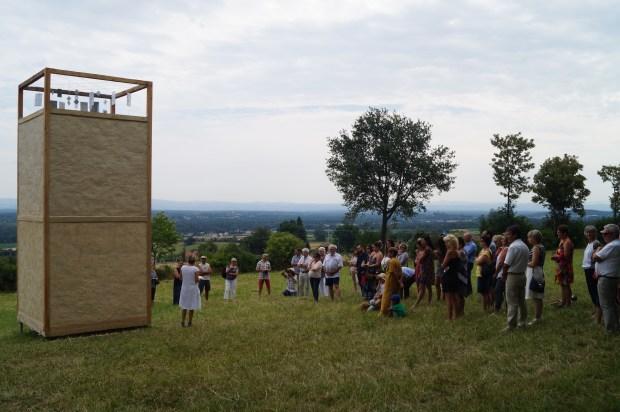 "Goutelas: inauguration du ""Phare"", d'Elia Monsonis et Chlothilde Buisson."