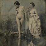 """""""Baigneuses au lac"""", de Félix-Jacques Moulin, daguerréotype, pose directe sur cuivre argenté, de Félix-Jacques Moulin"""