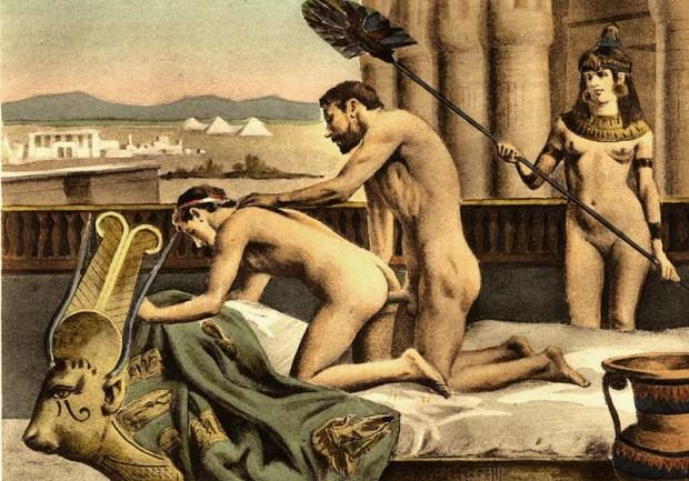 Représentation des amours d'Hadrien et Antinoüs, par Paul Avril.