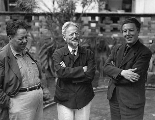 Diego Rivera, Trotsky, André Breton, 1938  © Archivo Manuel Álvarez Bravo, S.C.