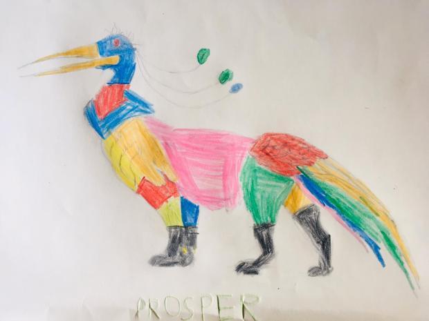 Marabouleo colorié par Prosper, sur un dessin original de Philippe Mignon