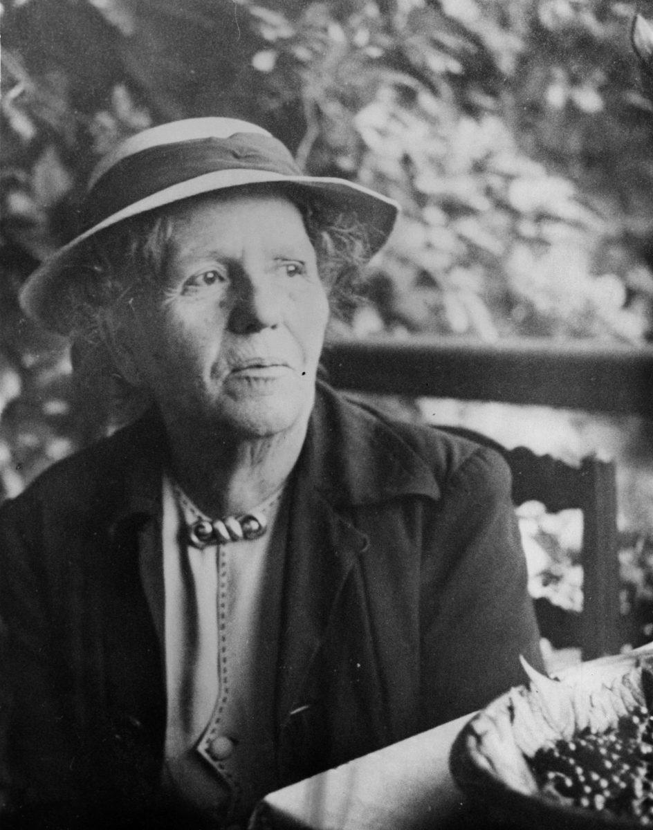 Marguerite Rosmer. Photo Gilbert Walusinski. Collection personnelle de Gilles Walusinski