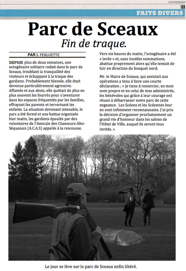 Parc de Sceaux - Fin de traque