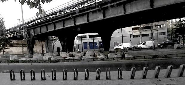 Porte de la Chapelle vue du Tram