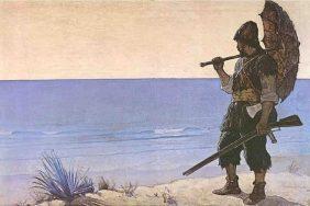 Robinson Crusoé illustré par N.C. Wyeth (1920)