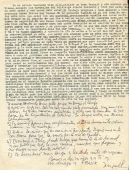 Seconde page de la lettre de Miguel à Ana, envoyée de Mexico le 18 septembre 1974 © Archives de la Famille Dalton