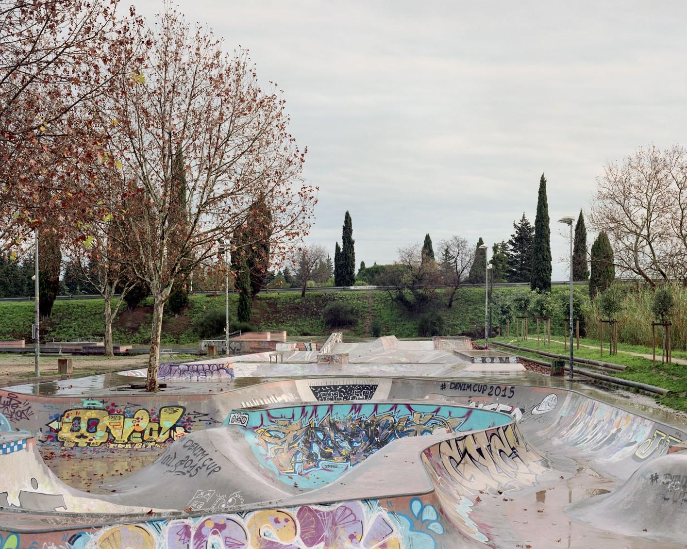 Skatepark, Nîmes, commande photographique de la villa Noailles - Photo Maxime Delvaux, 2016