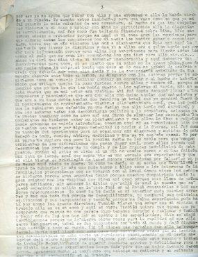Troisième page de la lettre d'Aída à Roque de septembre 1974 ©Archives de la famille Dalton - Tercera página de la carta de Aída a Roque de septiembre de 1974 ©Archivo Familia Dalton