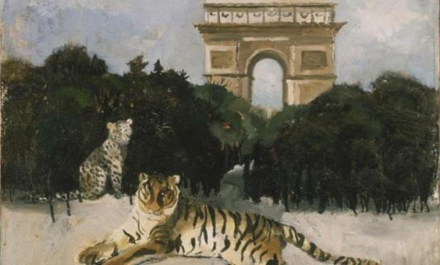 Tigre et Arc de Triomphe (Christopher Wood 1930)