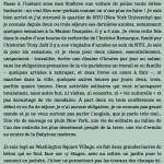 Un marcheur à New York, chapitre 1. Par Antoine de Baecque