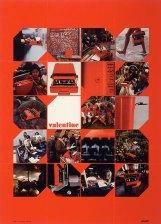 Publicité pour la machine à écrire Valentine (Olivetti, 1969) d'Ettore Sottsass