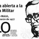 Rodolfo Walsh, Carta abierta a la Junta Militar, 1977, cartel con retrato de Carpani (1969)