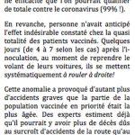Effets inattendus d'une vaccination massive